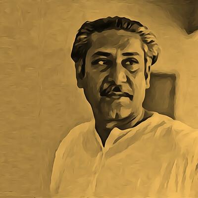 Md saidul islam 04 portrait of bangabandhu sheikh mujibur rahman