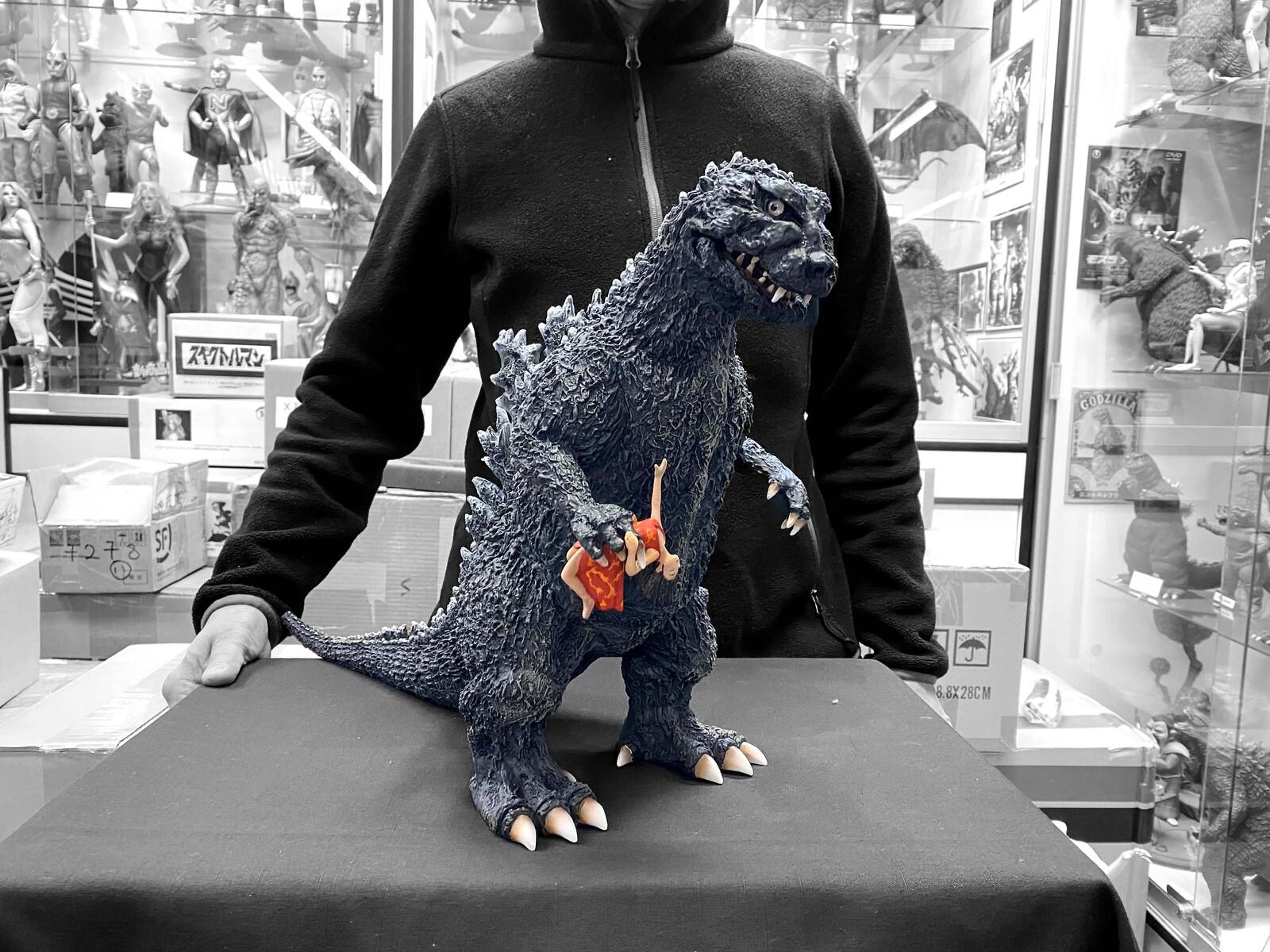 54 Godzilla pamphlet poster version Art Statue  ゴジラ パンフレット ポスター版  完成品 https://www.solidart.club