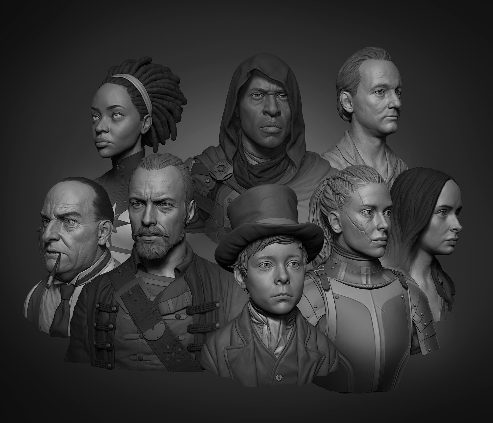 8 Head Speedsculpts in 8 Weeks