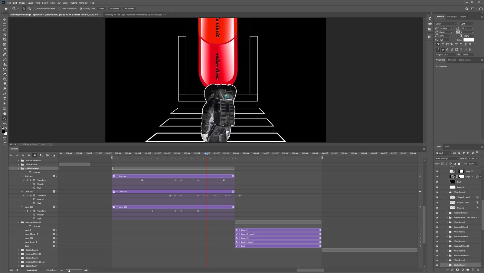 """The """"2020: A Time Oddity, Part 12"""" visual effect within Photoshop video editor"""