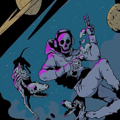 Chloe stawski floating skeleton