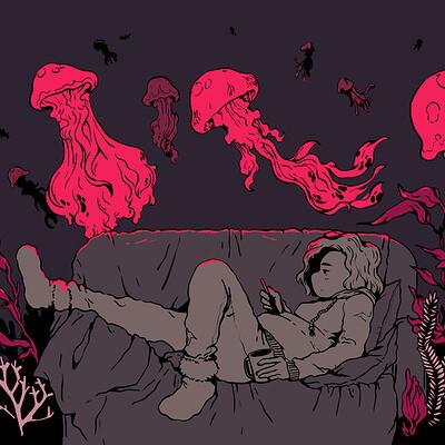 Chloe stawski avatar aquatique meduses