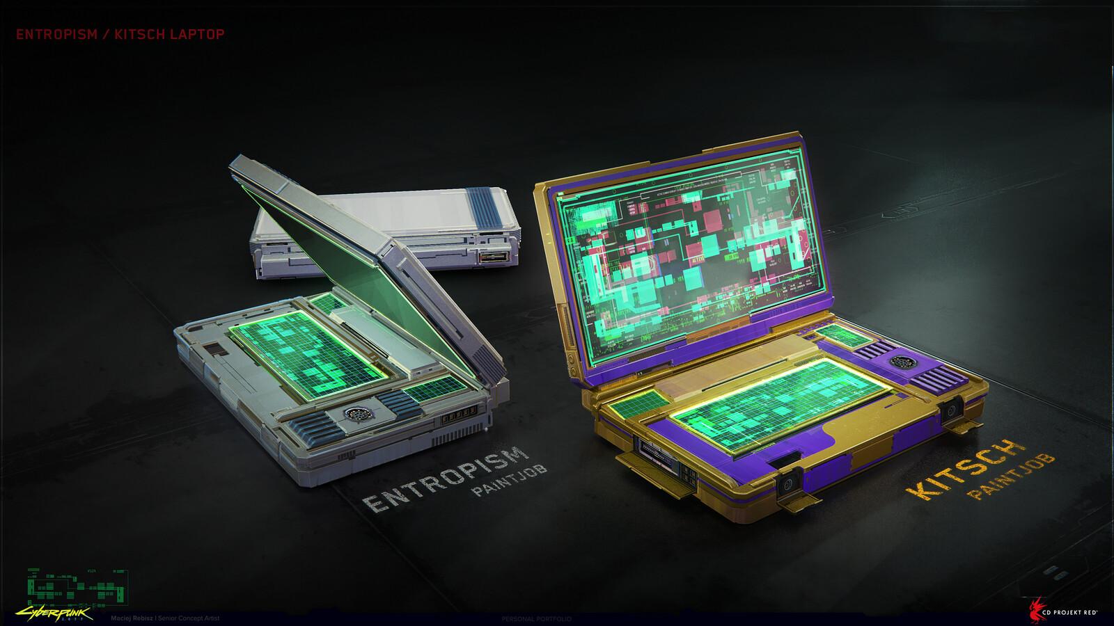 Entropism/Kitsch laptops