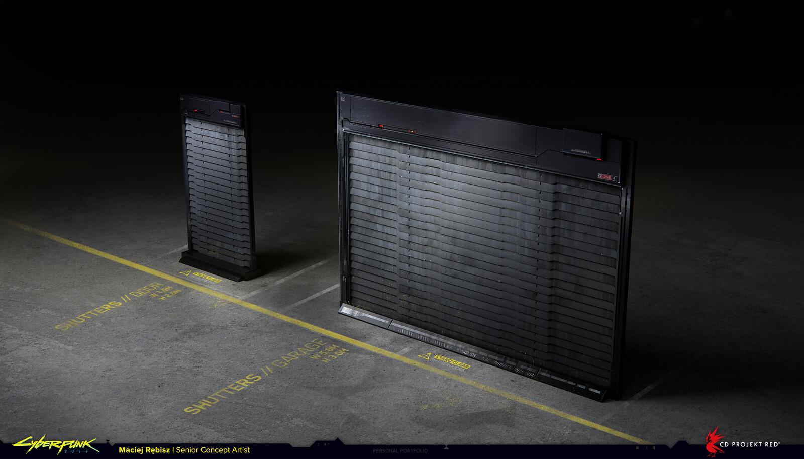 Security gate shutters