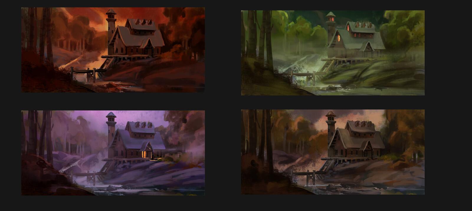 Surreal Color Scenarios