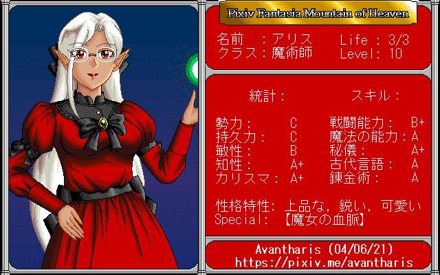 Alice Character Sheet 2
