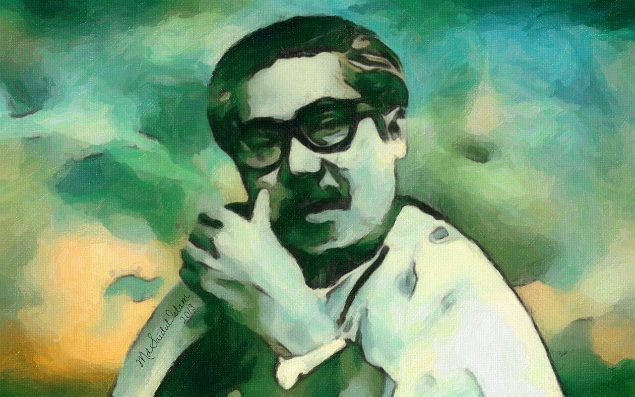 Bangabandhu Sheikh Mujibur Rahman whose love and affection knew no bounds for his people  License: Creative Commons Attribution-Noncommercial-No Derivative Works 3.0 License