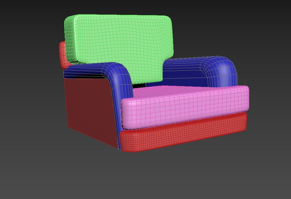 Progress 2/5 - Adding turbosmooths and refining the shape with soft selection and cage morphs.