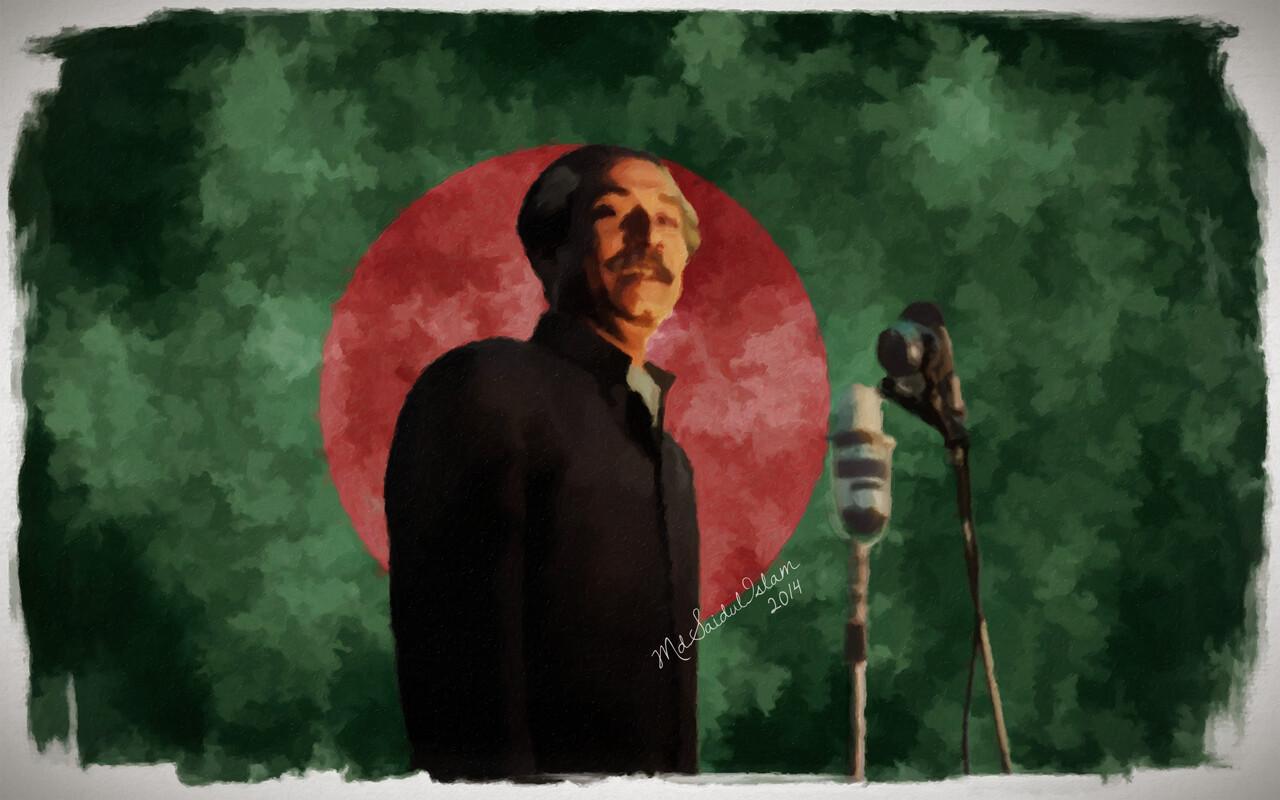 Bangabandhu Sheikh Mujibur Rahman, Declarer of Independent Bangladesh  License: Creative Commons Attribution-Noncommercial-No Derivative Works 3.0 License