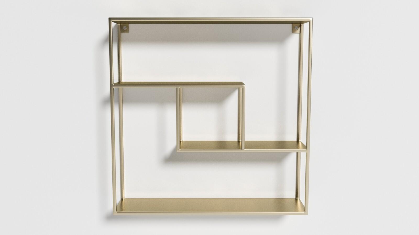 Geometric Brass Shelf