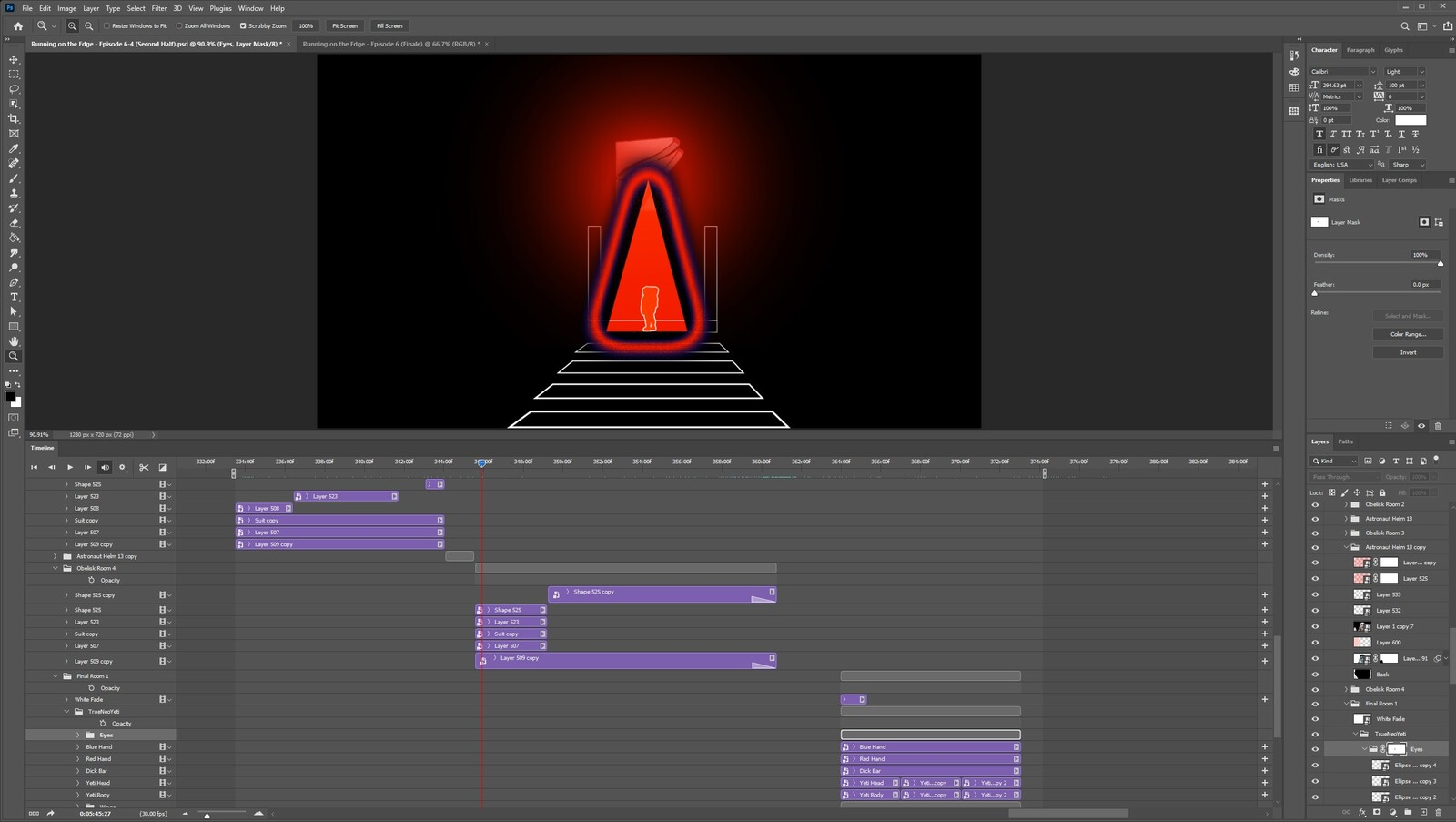 """The """"2020: A Time Oddity, Part 14"""" visual effect within Photoshop video editor"""