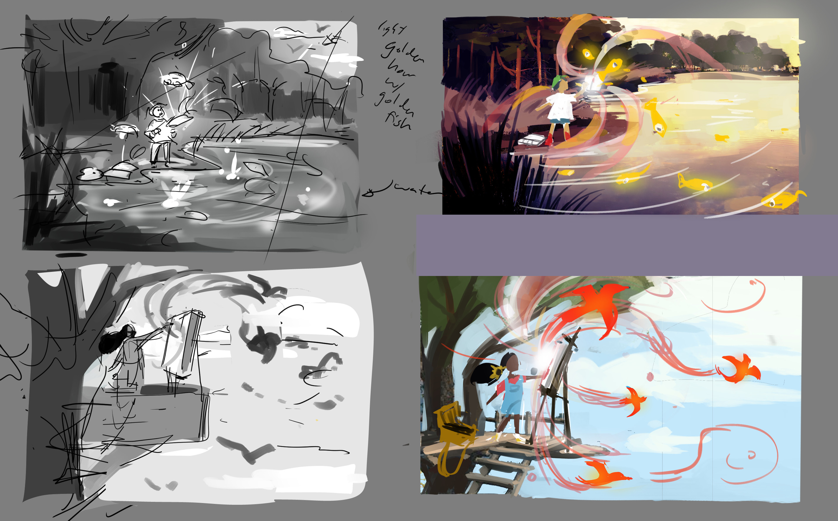 with confirmed character designs, these were the thumbnails for the brochure's interior