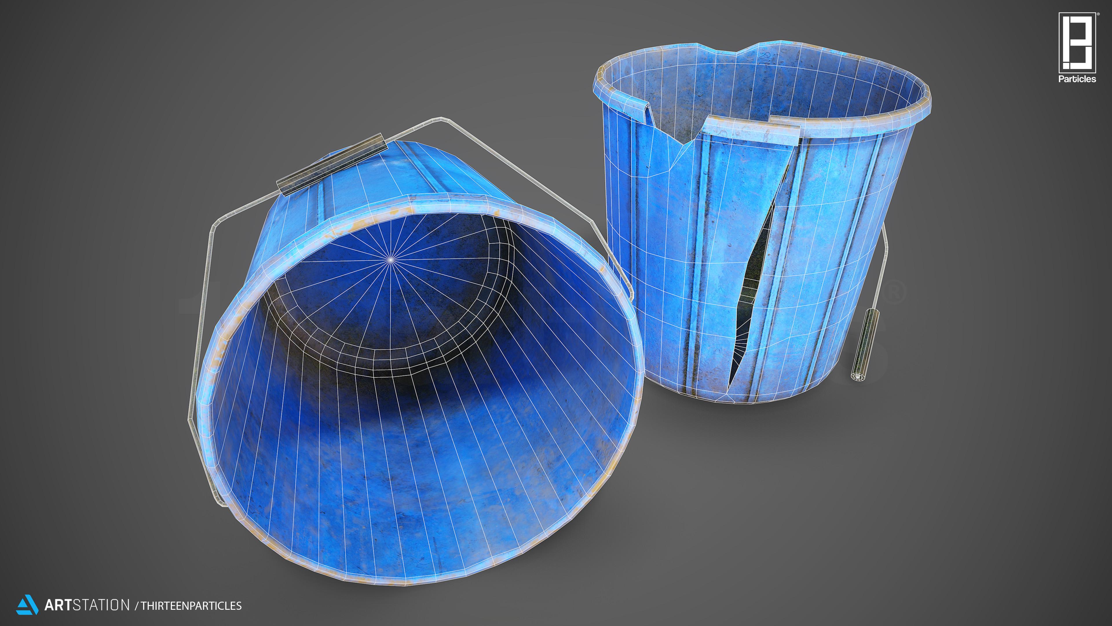 Water Buckets Wireframe