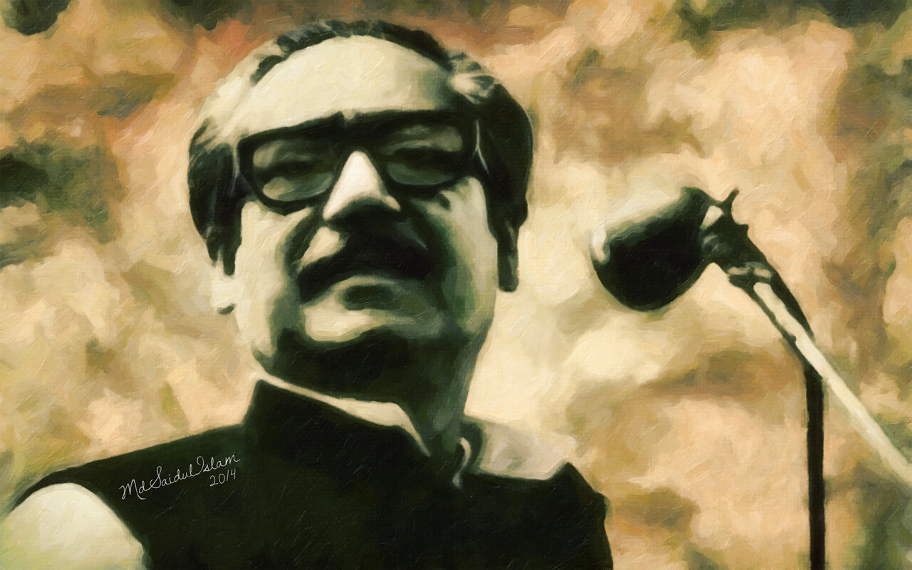 A champion of human rights and freedom, Bangabandhu Sheikh Mujibur Rahman License: Creative Commons Attribution-Noncommercial-No Derivative Works 3.0 License