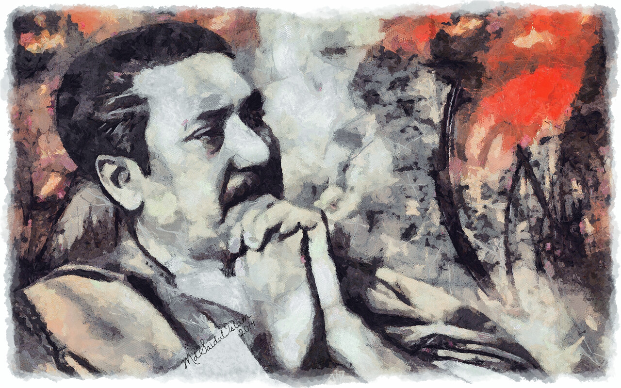 A digital portrait of the Father of the Nation, Bangabandhu Sheikh Mujibur Rahman  License: Creative Commons Attribution-Noncommercial-No Derivative Works 3.0 License