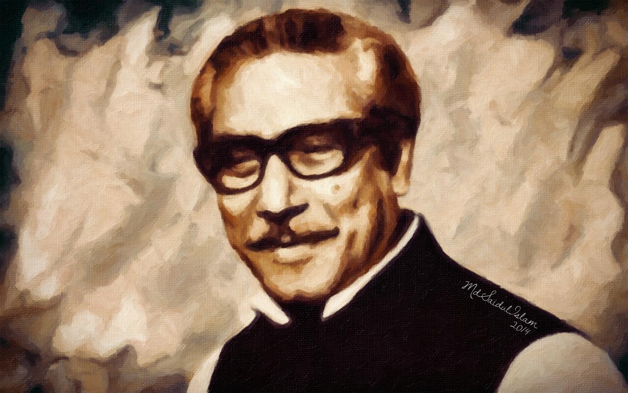 Bangabandhu Sheikh Mujibur Rahman (1920-1975), a charismatic leader of Bangladesh  License: Creative Commons Attribution-Noncommercial-No Derivative Works 3.0 License