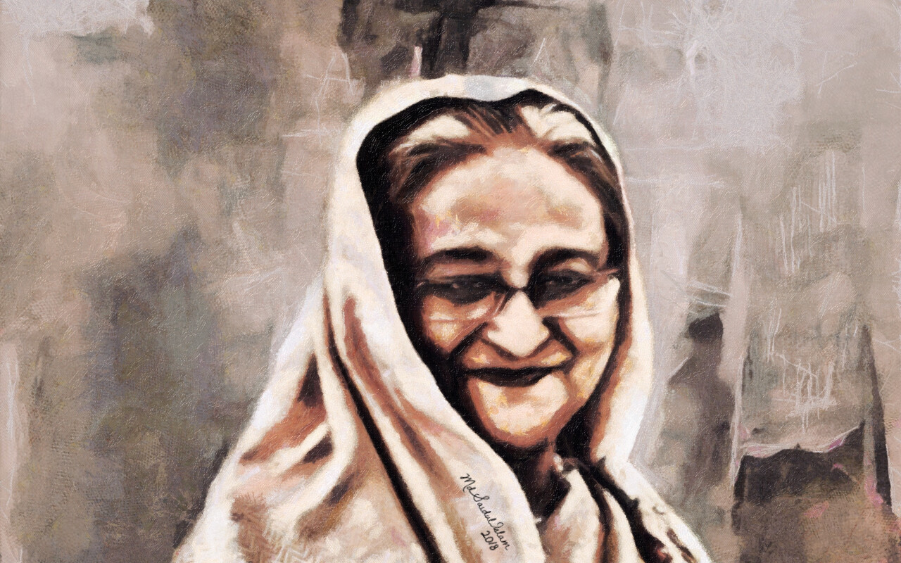 A digital portrait of Sheikh Hasina, The Visionary Leader  License: Creative Commons Attribution-Noncommercial-No Derivative Works 3.0 License