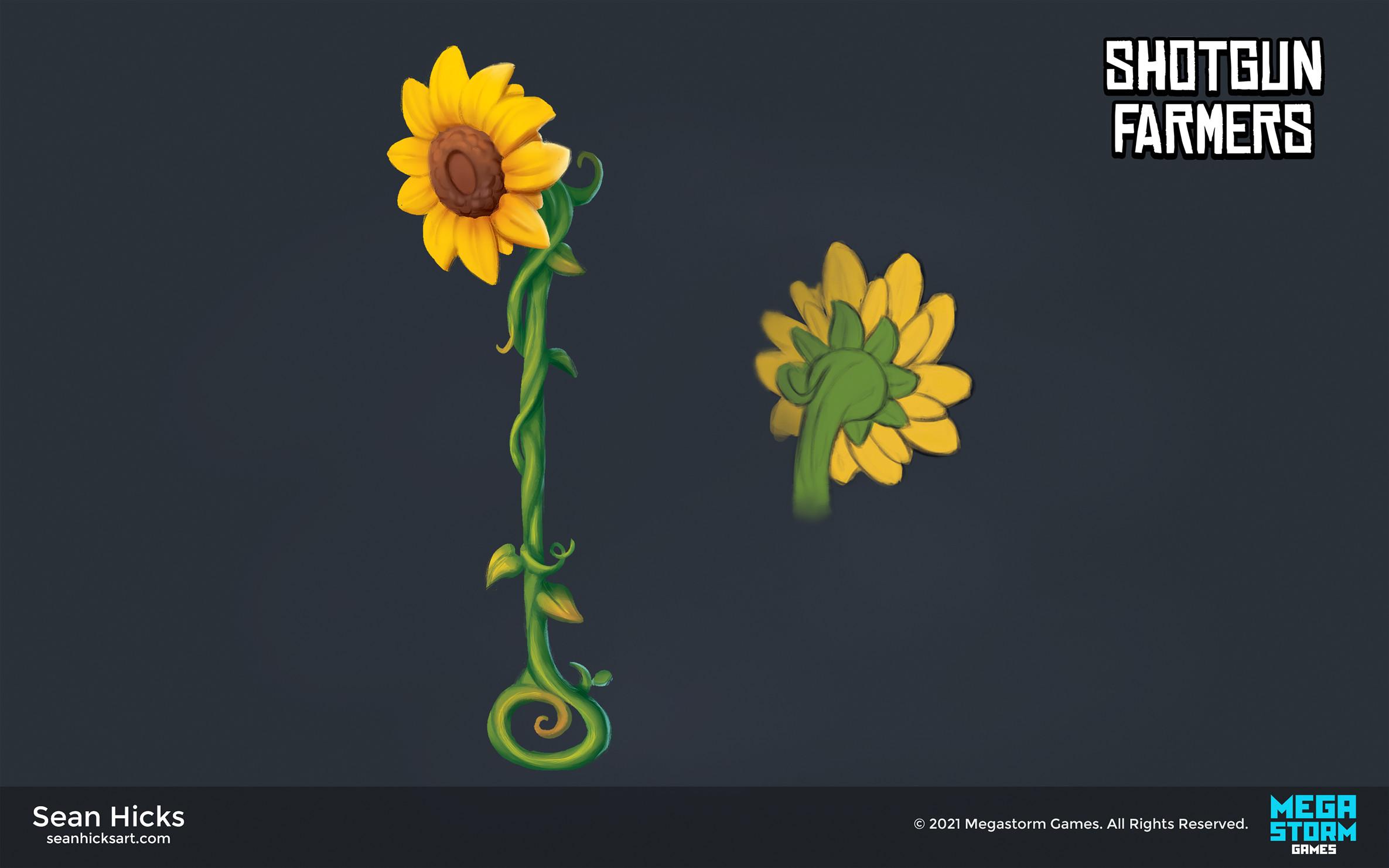Sunflower themed skin for the shovel weapon.
