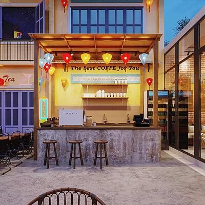 Neohouse architecture thiet ke va thi cong quan cafe tron goi 1