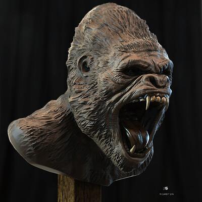 Surajit sen king gorila digital sculpture surajitsen april2021a ll