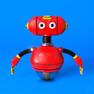Luca passoni robot red 1