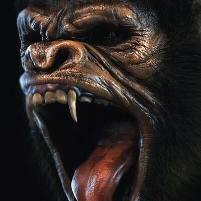 Surajit sen king gorila digital sculpture surajitsen april2021 look2 al closed