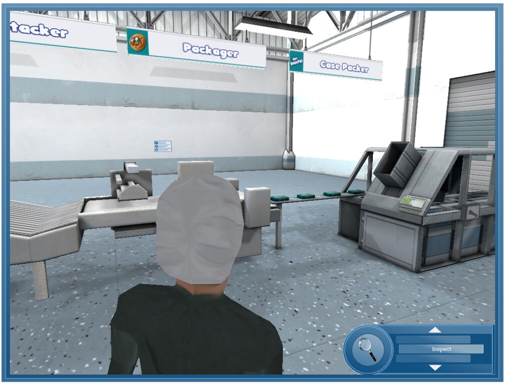 Food Processing Plant Simulation for eLearning
