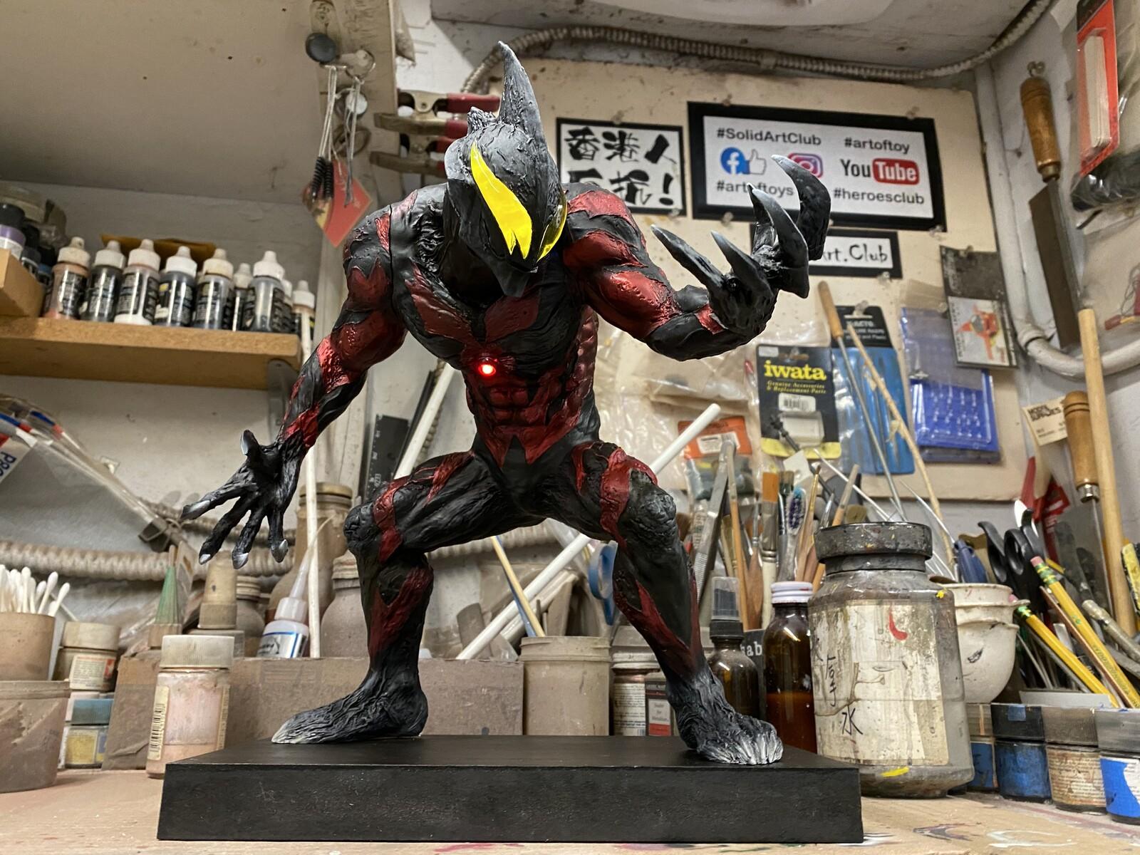 Ultraman Belial Art Statue  ウルトラマンベリアル 完成品 https://www.solidart.club