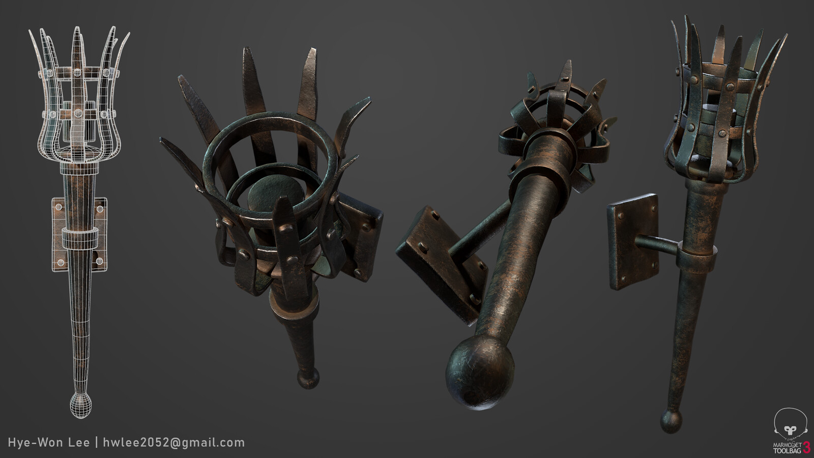 Torch rendered in Marmoset