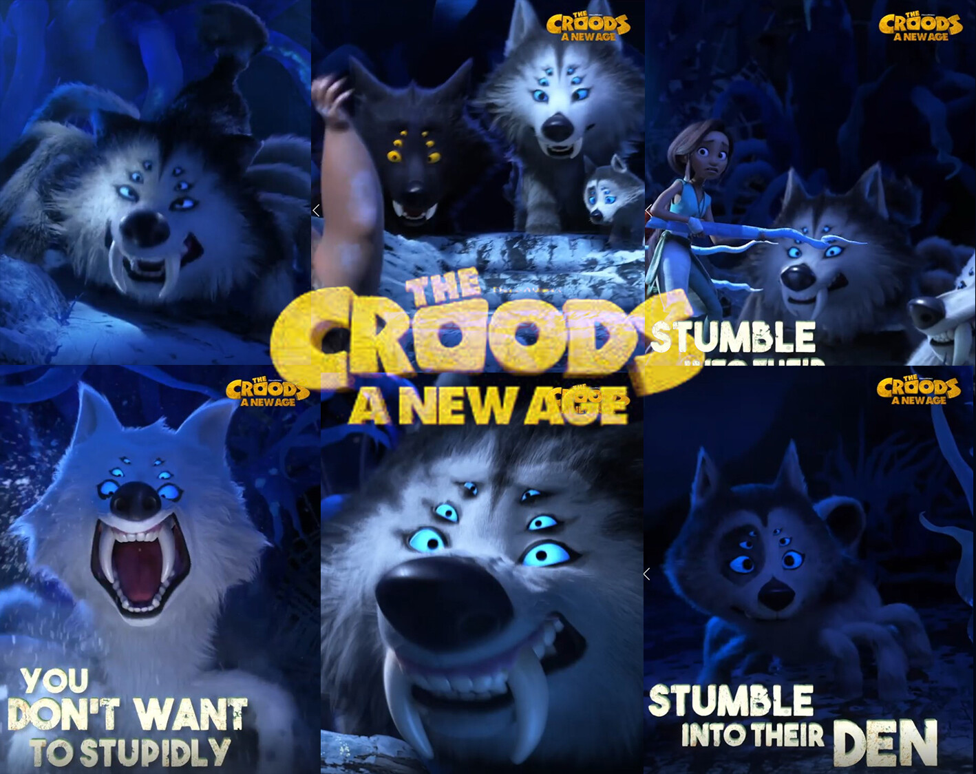 I worked on the wolfspiders model. all other aspects were done by the amazing Croods new age team at Dreamworks Animation.