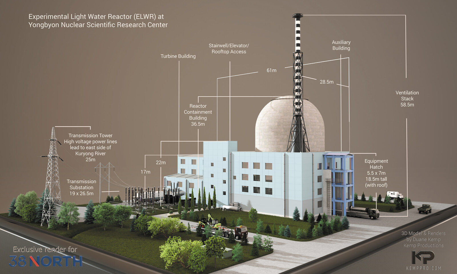 DPRK ELWR (Experimental Light Water Reactor) for 38 North's website presentation: https://www.38north.org/resources/2021/04/photo-galleries/yongbyon-experimental-light-water-reactor-render/ -Detail-work-5b-Display-test-Scene-31-5-3-6666x4000-14h25m07s