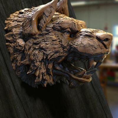 Surajit sen wolf quick blocking digital sculpture surajitsen april2021a l