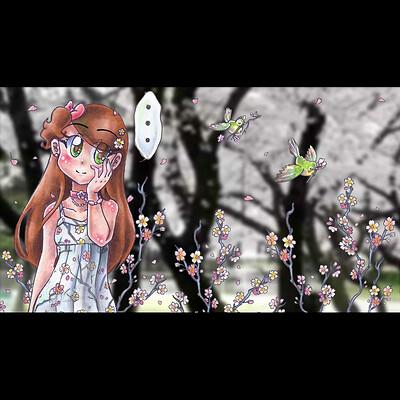 Nasika sakura nasikasakura talking card 2 still with sig for artstation