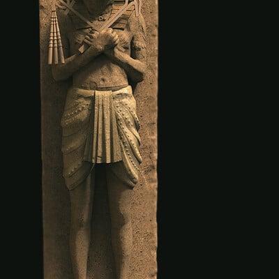 Surajit sen horus digital sculpture surajitsen april2021a l