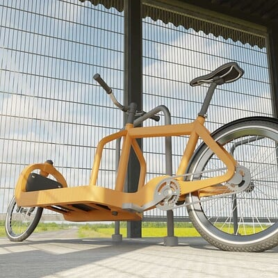 Dennis haupt 3dhaupt lockable bicycle shelter wip 1 with cargo bike wip 4 modelled and textured by 3dhaupt in blender 2 92 1