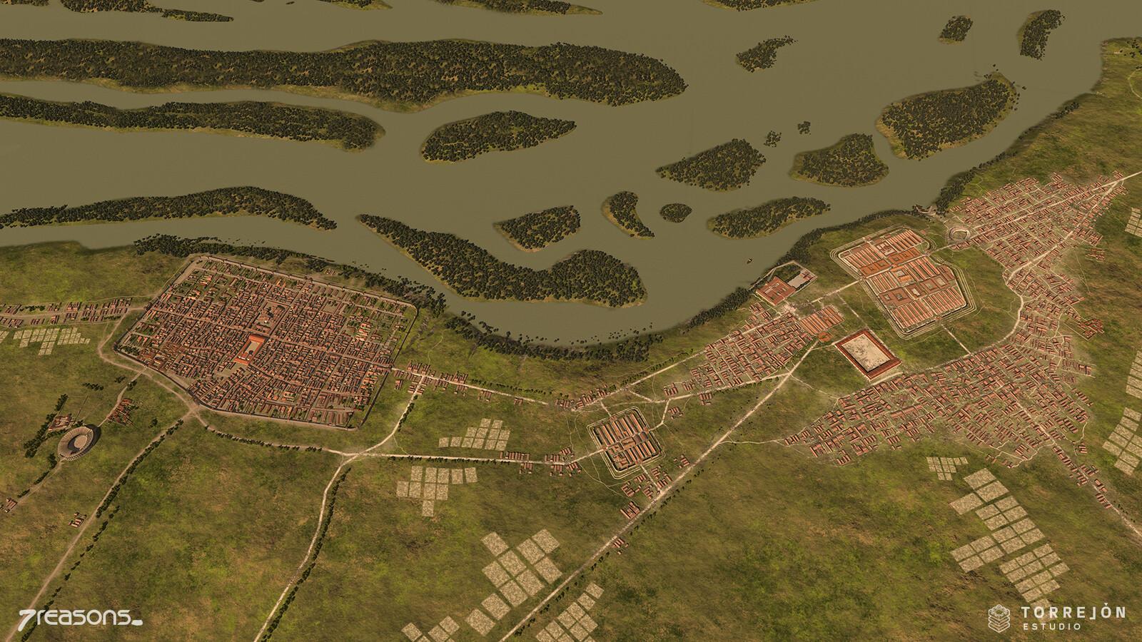 Carnuntum - Landscape 3D visualisation