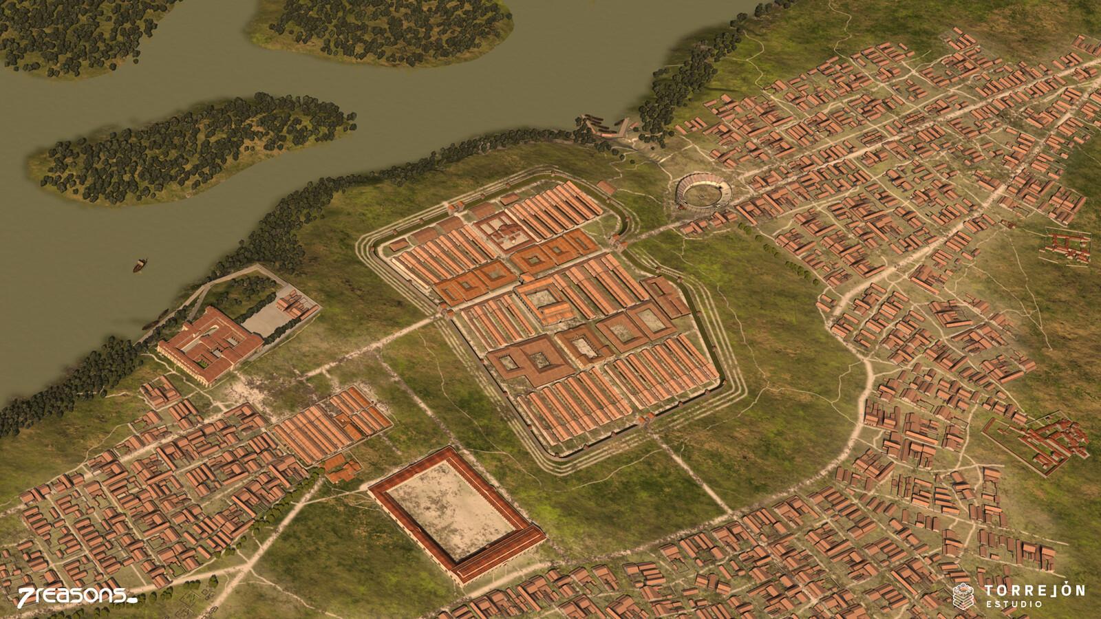 Carnuntum - Legionary Fort 3D visualisation