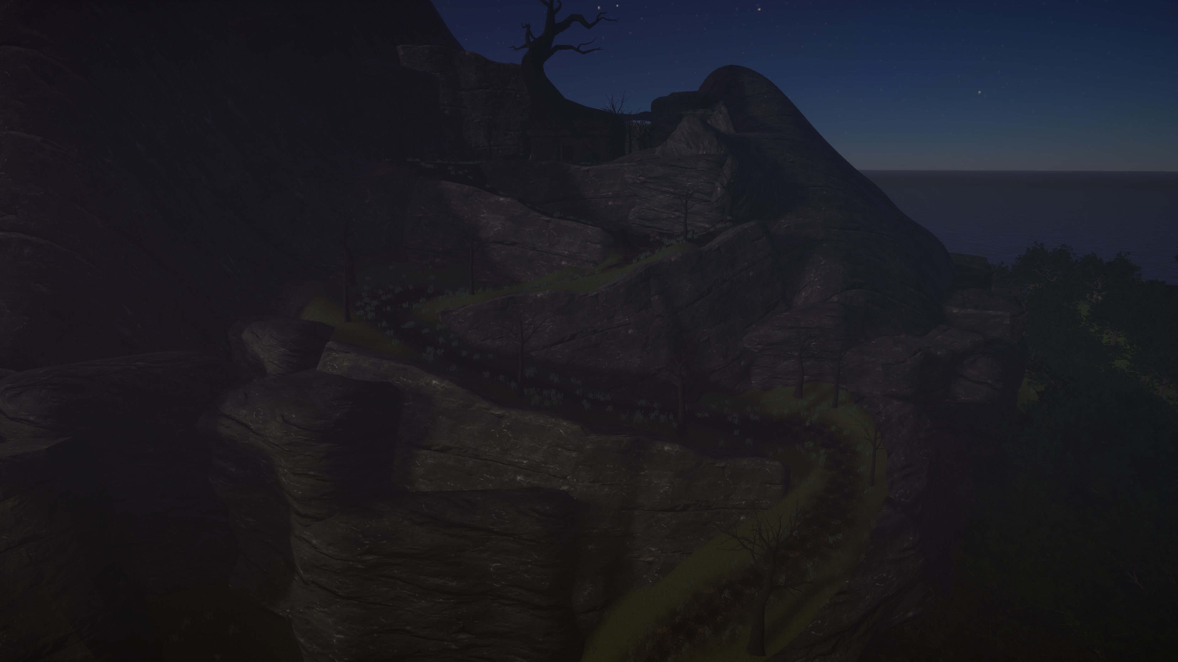 I did the terrain work for the winding path up to the Graveyard.