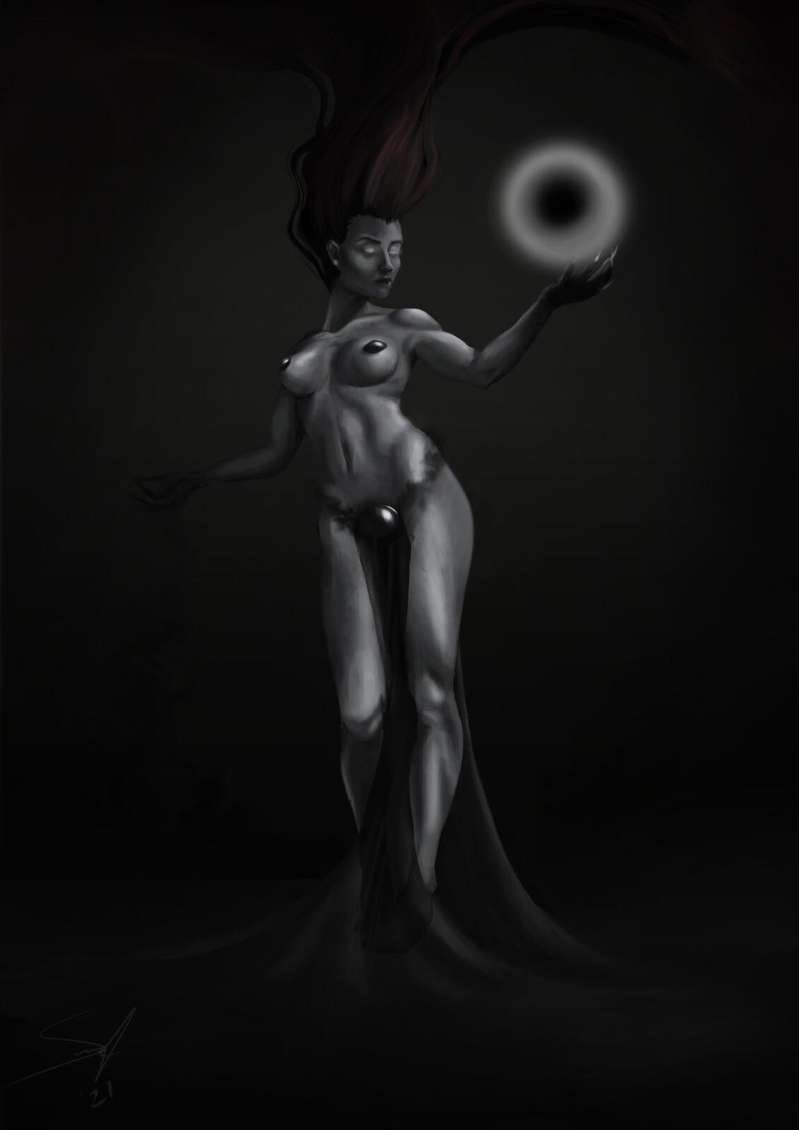 The Sorceress - Female Anatomy Art