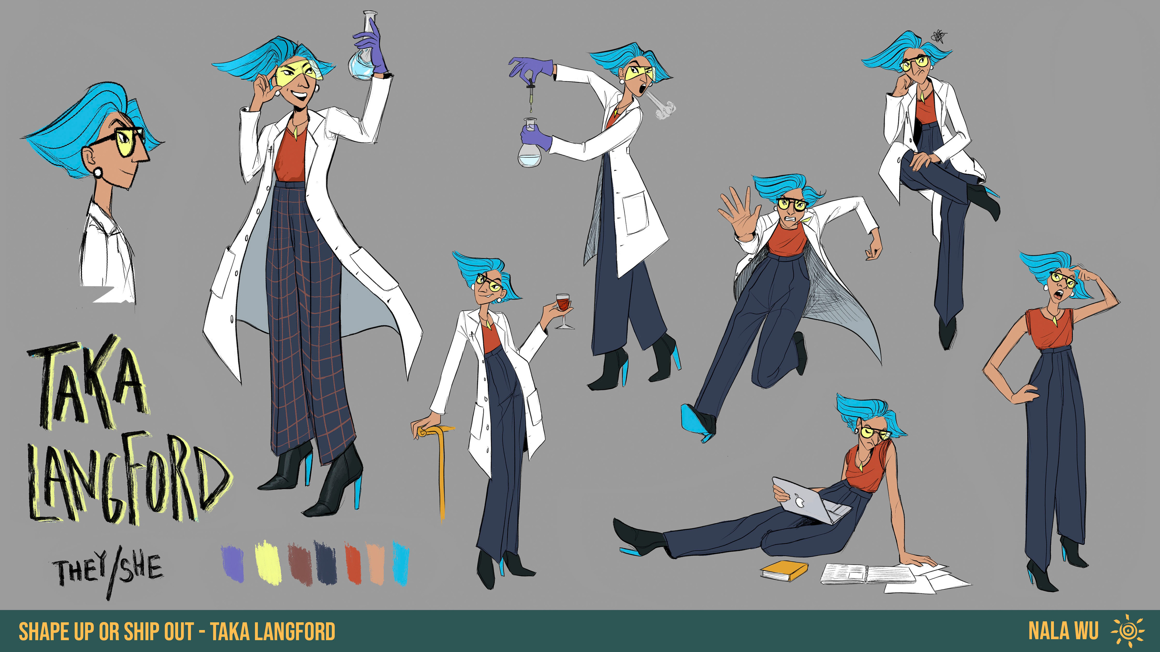 Dr. Taka Langford is a NBi Japanese Scientist who runs their own lab. They are absolutely dedicated to their career, and her priority is pursuing answers to scientific mysteries— but she might be a little too swayed by large sums of money.