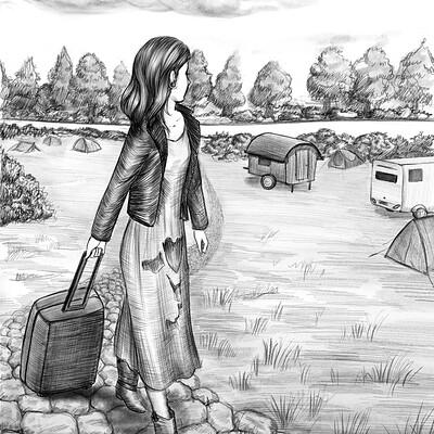 Gabriela shel campingszene