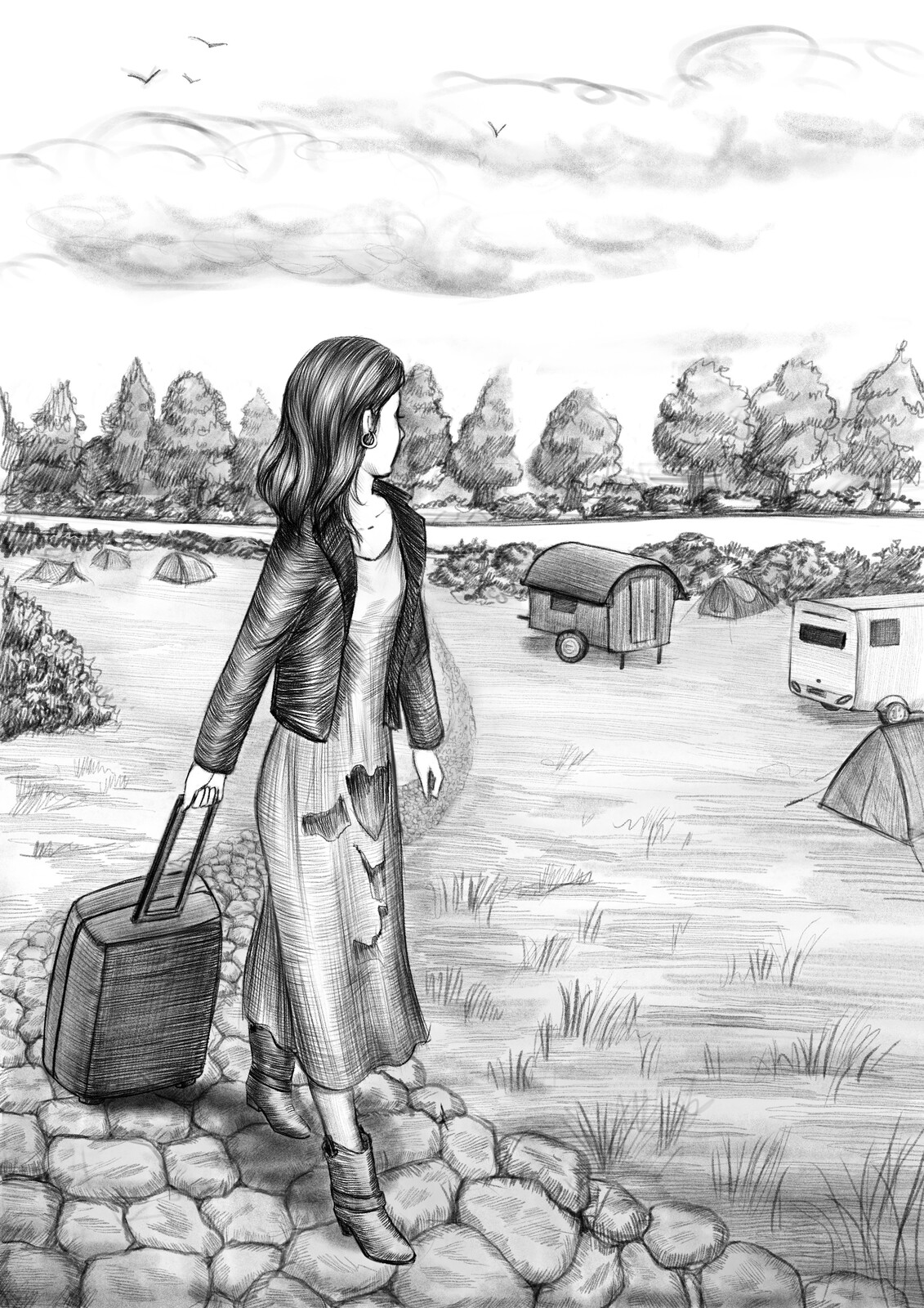 The Camping - Book Illustration