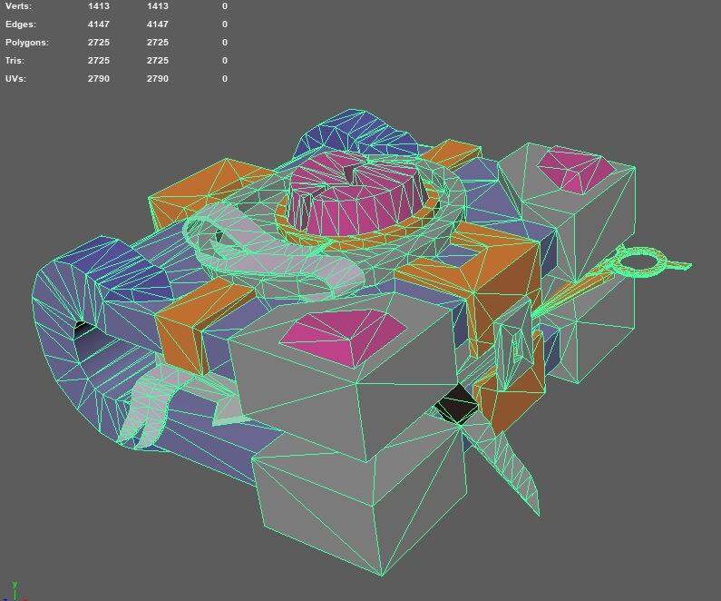 Maya screenshot showing the topology