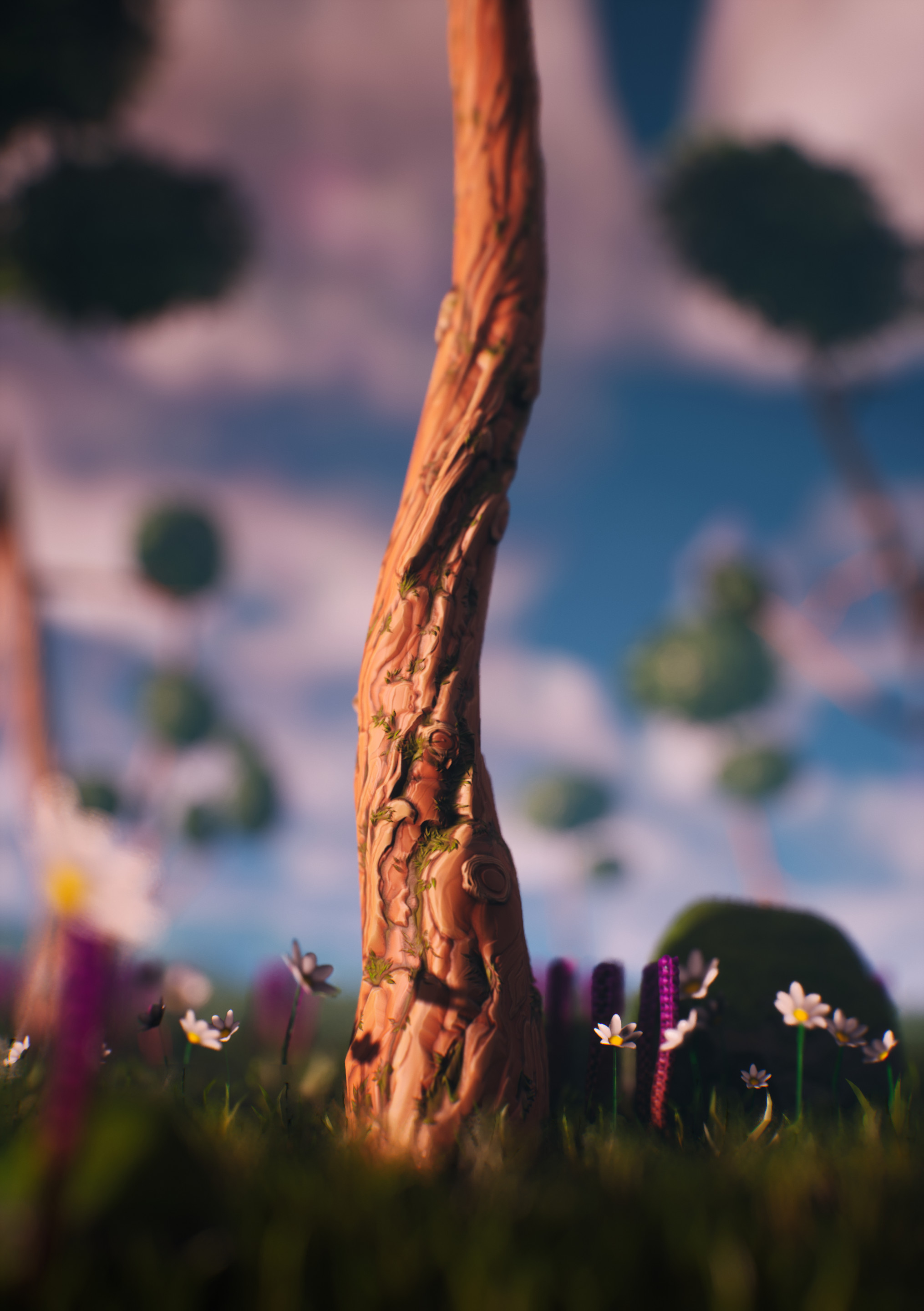 Really liked how this tree trunk turned out :).