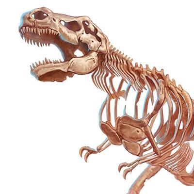 Gunship revolution skeleton tyrannosaurus rex
