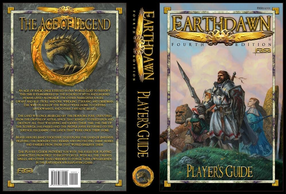 """"""" Earthdawn"""", Milivoj Ćeran 2014. , cover for """"Earthdawn 4, Player's Guide"""", complete wraparound  the 5 fragons circle on the back side is for the other assignment I made for FASA. © FASA Games"""