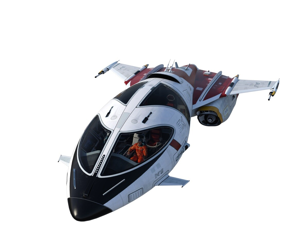 Another 'void' render of the Shuttlestar, using DAZ3D, iRay