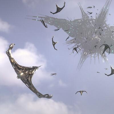 Mizuri alien cloud invasion