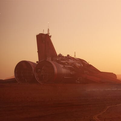 Martin jario martinjario spaceship desert 01