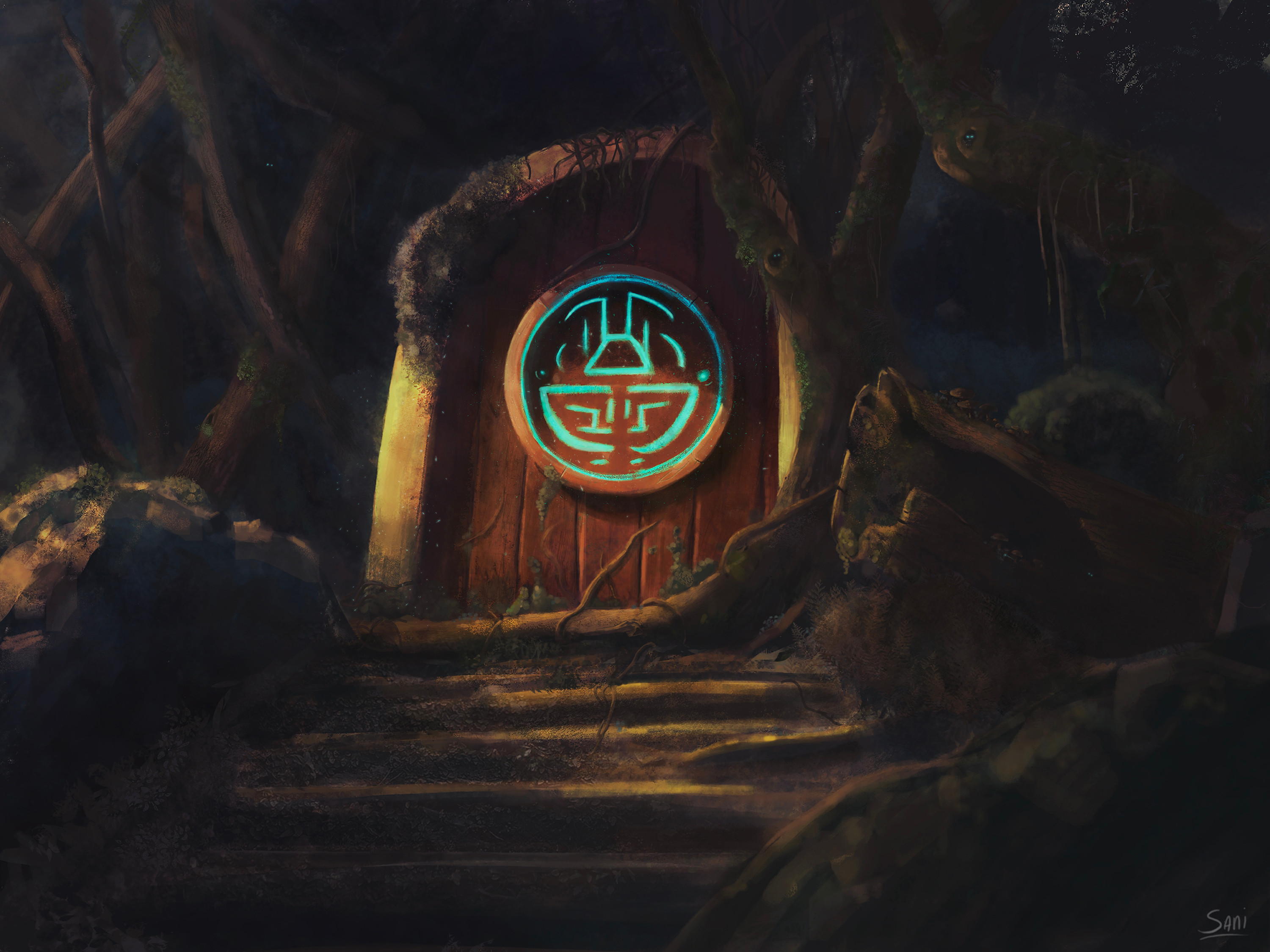 """Door of Etea is a visual development piece for """"Aya the Spirit whisperer"""".   More pieces coming up soon!"""